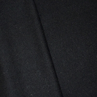 *2 YD PC--Black Brushed Wool Blend Jacketing