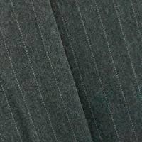 *5 YD PC--Pitch Gray Pinstripe Wool Blend Jacketing