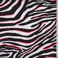 *4 YD PC--White/Black Zebra Stripe Nylon Knit
