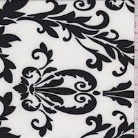 *4 YD PC--White/Black Baroque Activewear Knit