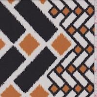 *5 YD PC--White/Walnut/Harvest Mod Chevron Nylon Knit