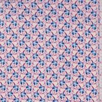 *2 YD PC--Off White/Fuchsia Tulip Activewear/Swimwear