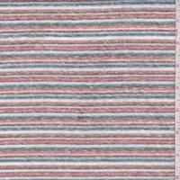 Brown Clay/Aqua/Charcoal Stripe Slub Jersey Knit