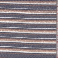 Olive/Ink/Black Stripe Slub Jersey Knit