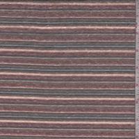 Brick/Black/Orange Stripe Slub Jersey Knit