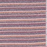 Redwood/Harvest/Ink Stripe Slub Jersey Knit