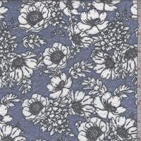 Bright Sky Floral Slub Jersey Knit