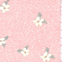 Clay Pink Dogwood Floral Slub Jersey Knit