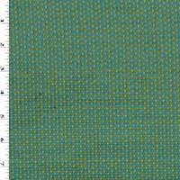 *3 1/2 YD PC -- Turquoise/Apple Green Textured Dobby Decorating Fabric