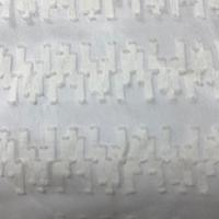 White Southwest Stripe Silk Chiffon