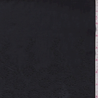Black Scallop Cotton Eyelet
