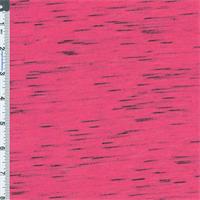 *1 1/4 YD PC--Pop Pink Space-dyed Slub Jersey Knit