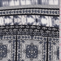 ITY Black/Slate Seismic Tile Jersey Knit