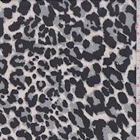 White/Black/Stone Cheetah Georgette