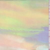 Pink/Citron/Violet Sunset Georgette