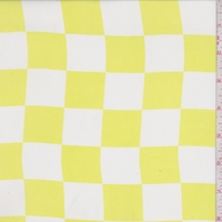 Bright Lemon/White Check Georgette