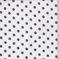 White/Black Dot Georgette