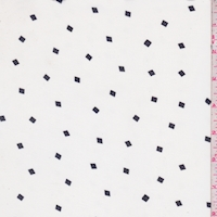 White/Black Mini Square Georgette
