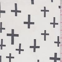 White/Black Cross Georgette