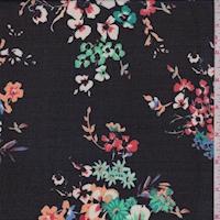 Black Multi Floral Bunch Georgette