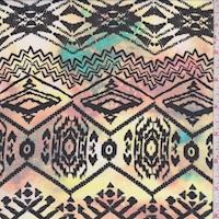 Clay/Black Aztec Diamond Georgette