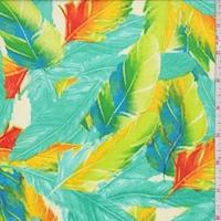 Aquamarine Multi Feather Georgette