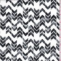 White/Slate Chevron Stripe Georgette