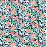 Dark Navy/Clay Floral Garden Print Cotton