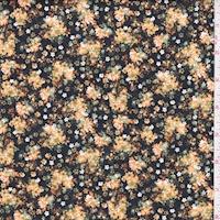 Black/Harvest Floral Cluster Print Cotton