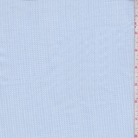 Baby Blue Oval Pique Shirting
