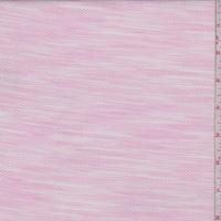 Deep Pink/White Streak Oval Pique Shirting