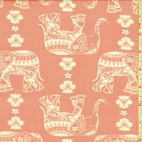 Blush Moroccan Elephant Double Brushed Jersey Knit