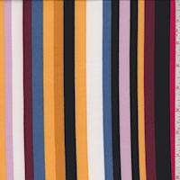 Gold/Wine/Black Stripe Double Brushed Jersey Knit