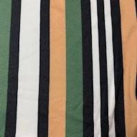 Fern/Tan/Black Stripe Double Brushed Jersey Knit