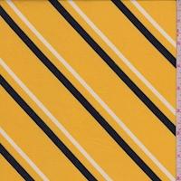 Maize Yellow Diagonal Stripe Double Brushed Jersey Knit