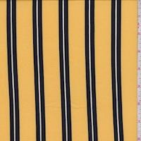 Maize Yellow/Black Stripe Double Brushed Jersey Knit
