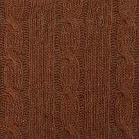 *7/8 YD PC--Brown Wool Blend Cable Knit
