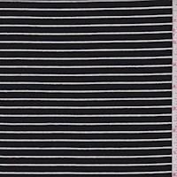 *2 3/4 YD PC--Black/White Stripe T-Shirt Knit