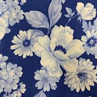 """*3 YD PC--Violet Blue """"Dutch Garden"""" Cotton"""