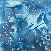 "*3 YD PC--Blue Twinkling Stars ""Boundless"" Cotton"