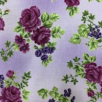"*3 YD PC--Grape ""Blooms"" Cotton"