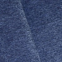 *3 3/8  YD PC -- Dusty Blue Indoor/Outdoor Perennials Chenille Decorating Fabric