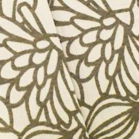 * 1 YD PC--Gray/White Indoor/Outdoor Floral Jacquard Decor Fabric