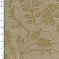 Linen/Cotton Beige Carnation Floral Print Home Decorating Fabric