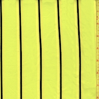 Neon Yellow Stripe Double Brushed Jersey Knit
