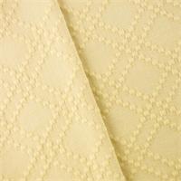 * 2 5/8 YD PC--Cream Cotton Lattice Home Decorating Fabric