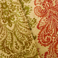 * 4 7/8 YD PC--Multi Waverly Paisley Print Home Decorating Fabric