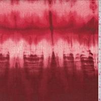 Rust/Pale Red Tie Dye Stripe Double Brushed Jersey Knit