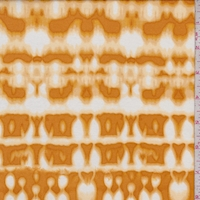 Goldenrod Tie Dye Look Double Brushed Jersey Knit