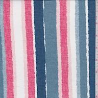Slate/Berry Linen Look Stripe Double Brushed Jersey Knit